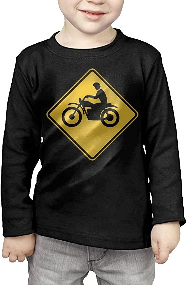 CERTONGCXTS Toddler Motorcycle Crossing ComfortSoft Long Sleeve Shirt