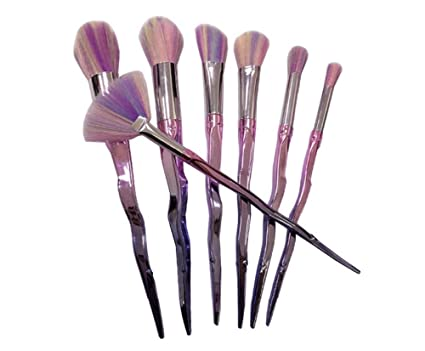 614cdcebfc6 Image Unavailable. Image not available for. Color: 7Pcs Sword Handle Gradient  Color Mermaid Makeup Brushes ...
