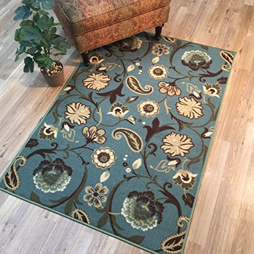 Anti-Bacterial Rubber Back AREA RUGS Non-Skid/Slip 3x5