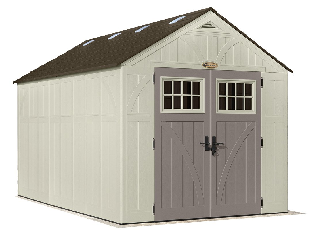 suncast amazon sheds premium resin multi com purpose garden storage shed outdoor dp