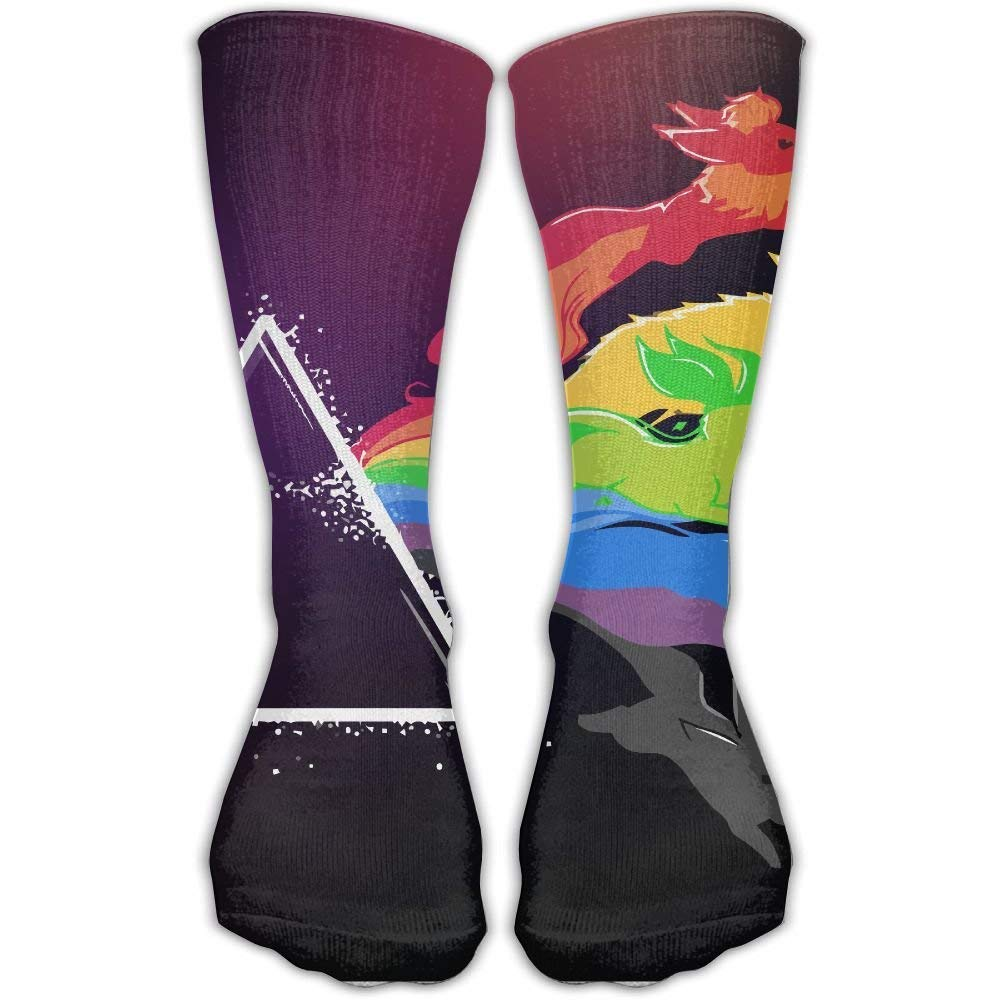hat pillow Women's Men's Classics Socks Eevee Eeveelutions Flareon Glaceon Jolteon Leafeon Umbreon Vaporeon Athletic Stockings 60 cm Long Sock One Size