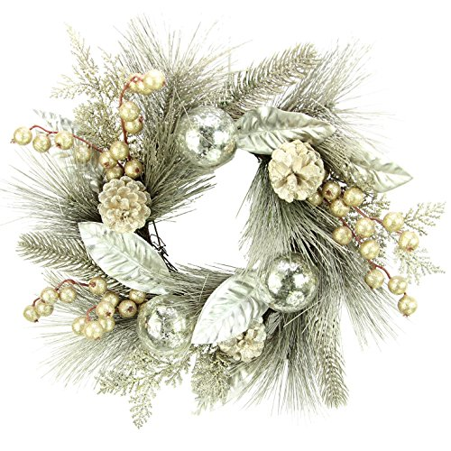 Admired By Nature Pine Cone Ball Ornament Berry Cedar Chr...