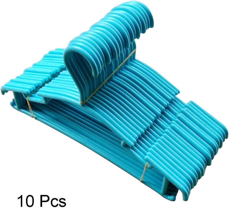 NANAD Confezione da 10 grucce Colorate in plastica Antiscivolo salvaspazio Taglia Libera Blue per Vestiti dei Bambini