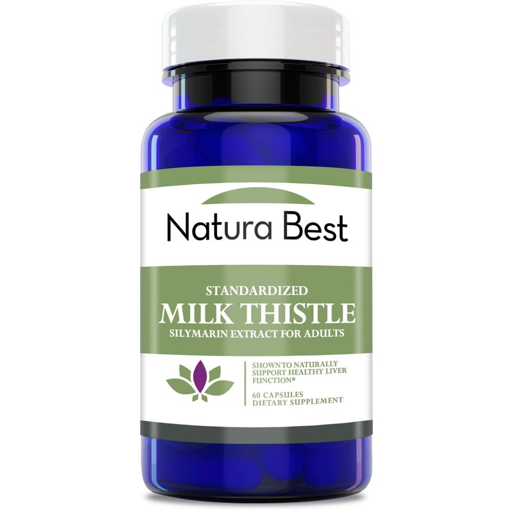 Naturabest Milk Thistle Extract (Silymarin) 175mg - Supports Liver Health, Standardized 80%, 60 Capsules