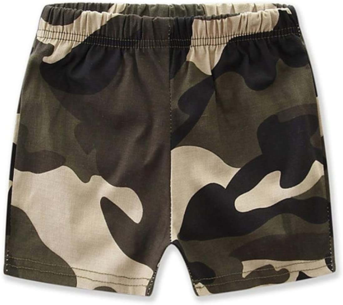 Boomboom 2017 Newborn Baby Camouflage T-shirt Babys Clothes Set Short Pants Sets