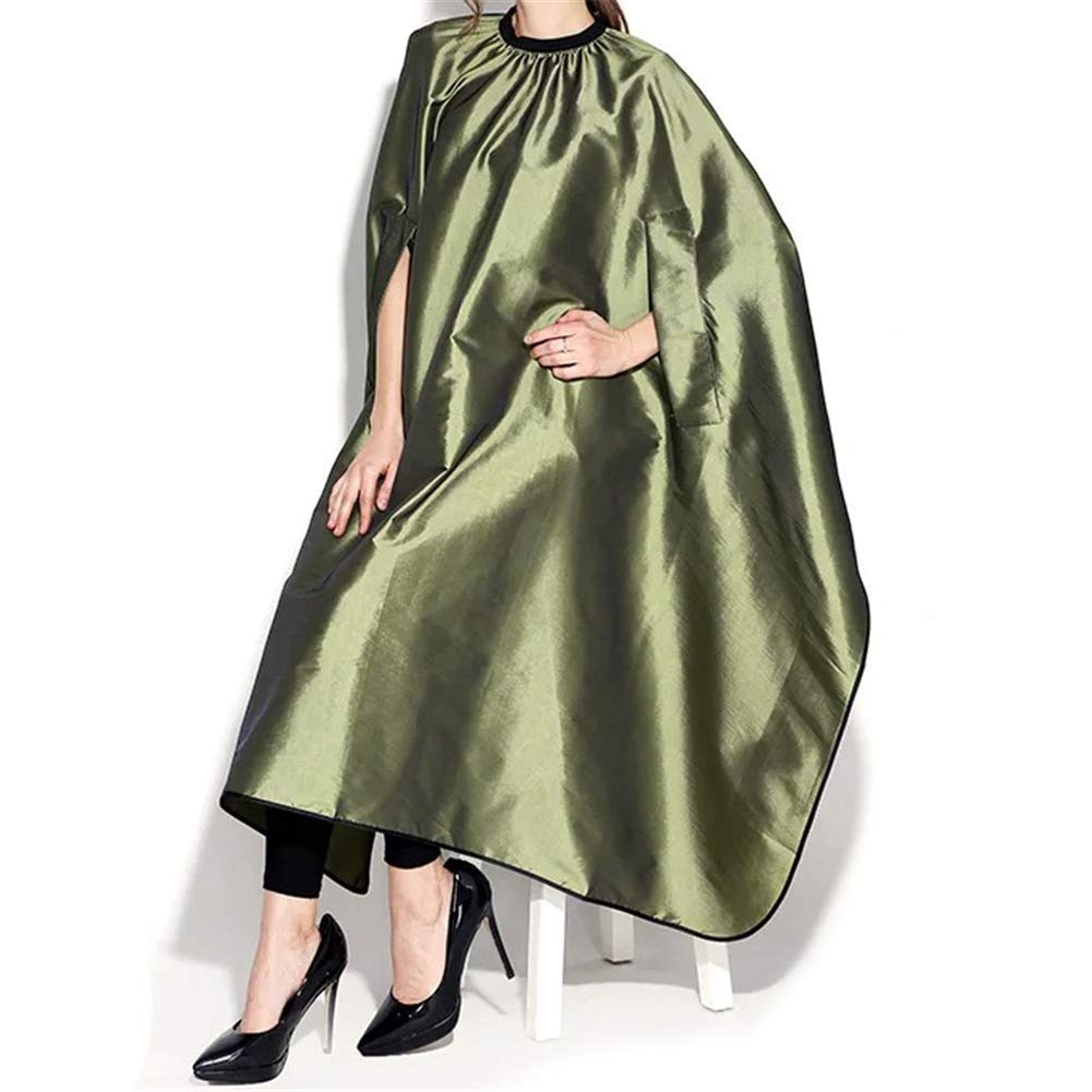 HIZLJJ Barber Hairdressing Gown Waterproof Salon Cape Haircutting Apron Hair Cutting Dyeing Styling Cloth (Color : Green) by HIZLJJ