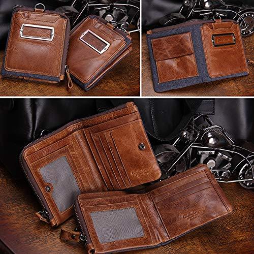 Loco De Para Billetera Bags Cuero Caballo Corta Hombres Cartera Brown Monedero n8q7475wAg