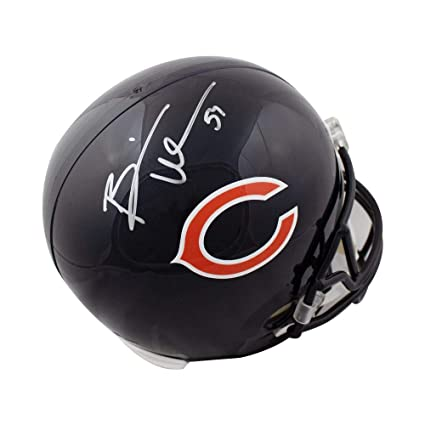 bbf8c35378f Image Unavailable. Image not available for. Color  Brian Urlacher  Autographed Chicago Bears ...
