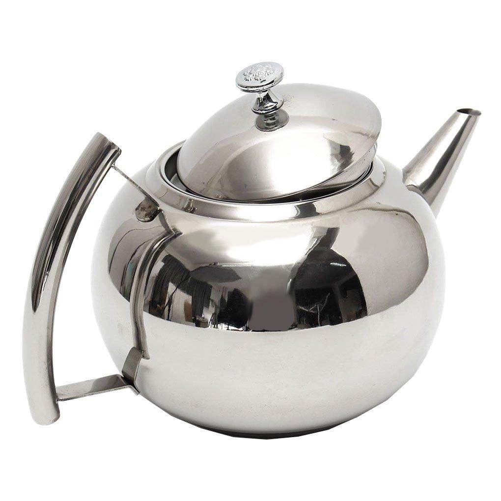 Acquisto Nowear 1L / 1.5L / 2L Acciaio Inossidabile lucidato Teiera tè caffettiera con Tea Leaf Filter Infuser Prezzi offerta