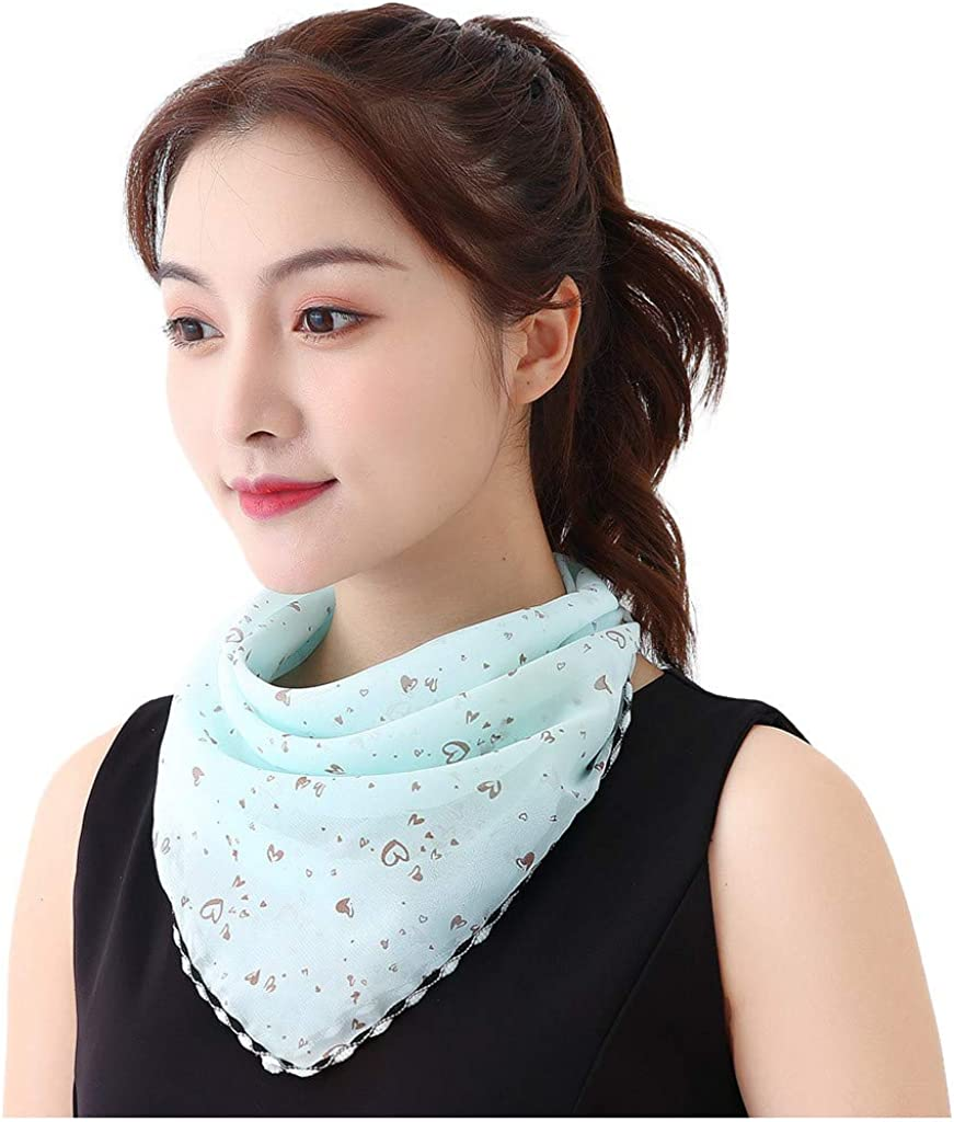 Women Sun Protection Print Scarf Dustproof Neck Scarf Face Mouth Cover Outdoor Protective Supplies