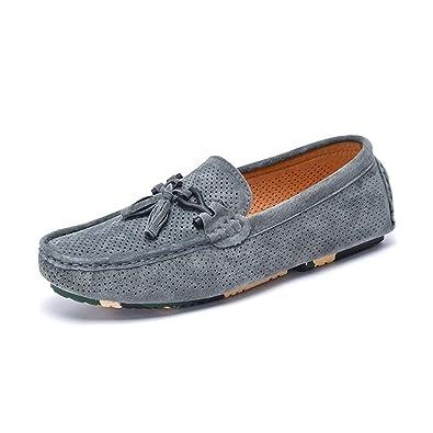 XUE Homme Chaussures Cuir Printemps Automne Confort Mocassins & Slip-Ons Chaussures de Conduite Chaussures (Couleur : Une, Taille : 41)