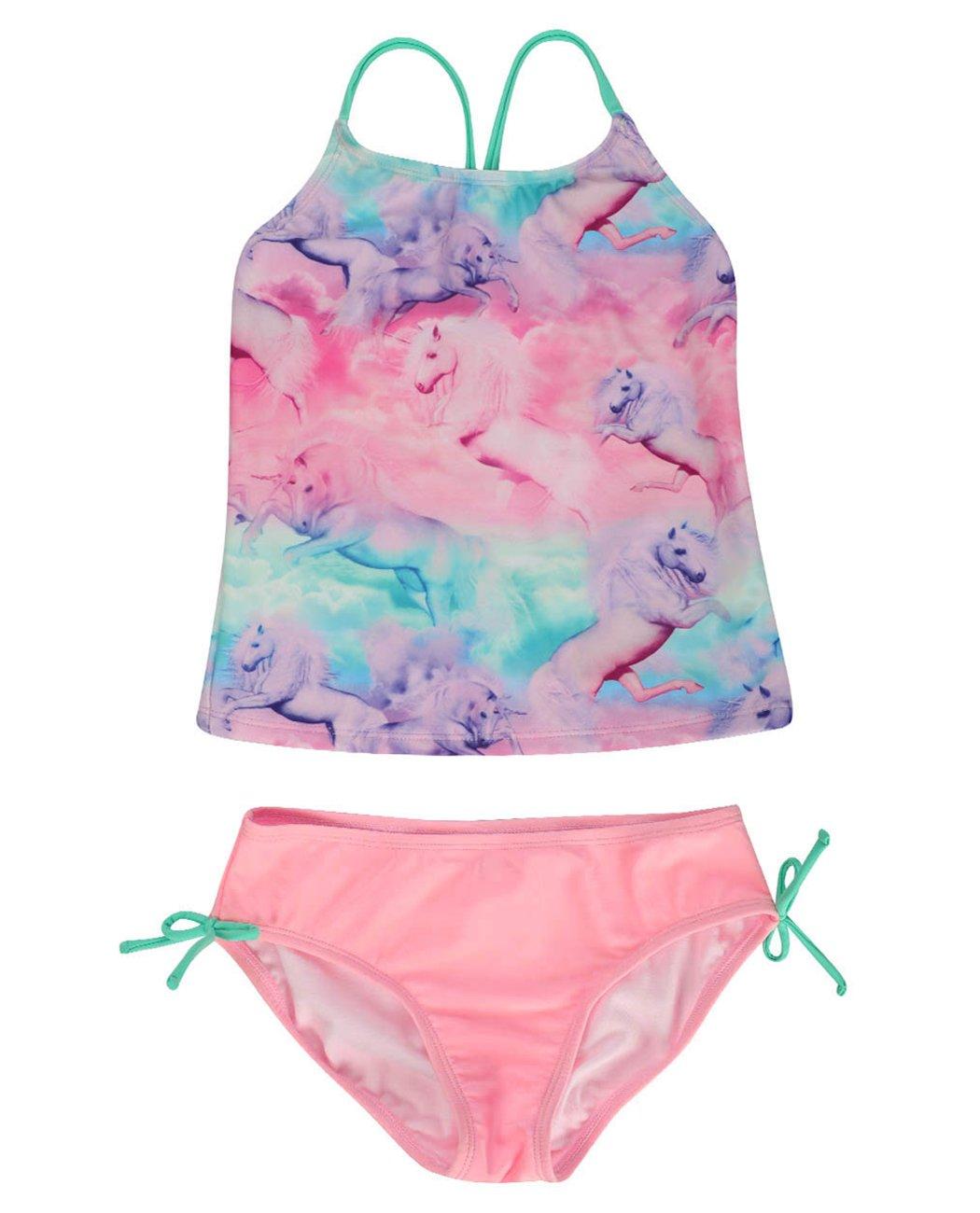 iDrawl Girls Two Piece Swimwear, Racerback Beach Swimming Bathing Suits by iDrawl (Image #5)