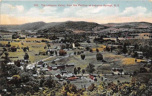 The Lebanon Valley from the Pavilion Lebanon Springs, New York, NY, USA Postcard