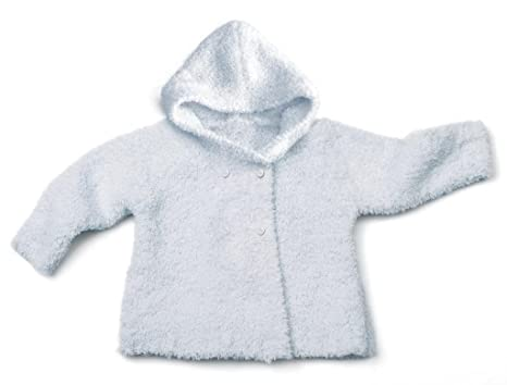 Lotus Springs Baby Boys Dbl Breasted Hooded Jacket Bamboo Microfiber 6-12 Mos Aqua