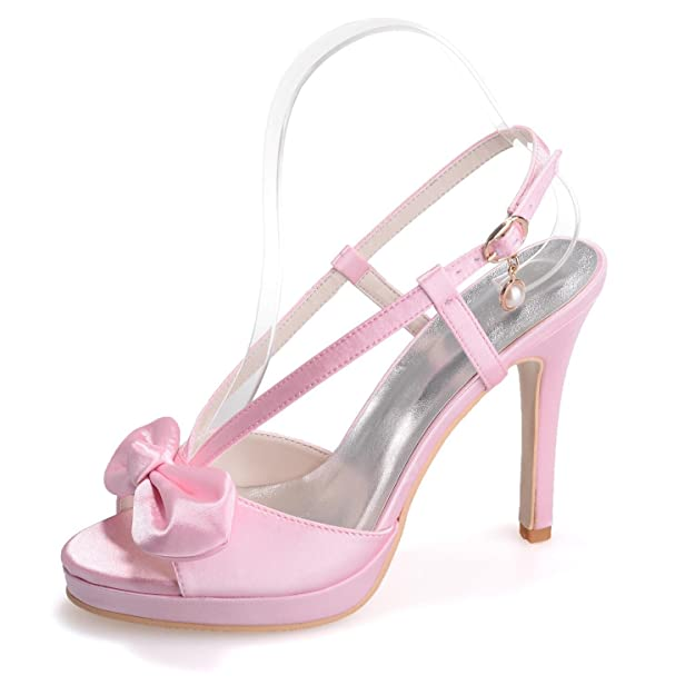 Elegant High shoes5915-19 Tacchi Alti da Donna da Donna/Casual Party Office E Carriera con, Champagne, 36