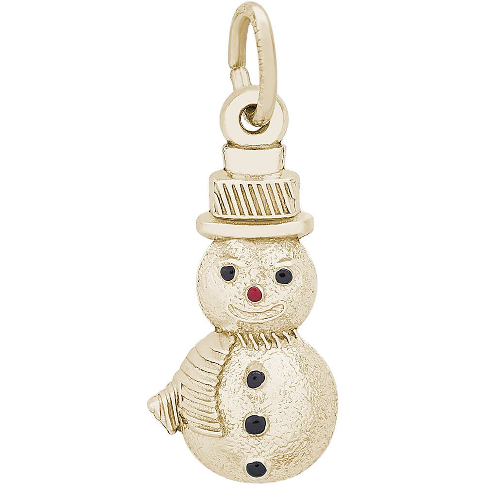 Rembrandt Charms Snowman Charm, 14K Yellow Gold by Rembrandt Charms