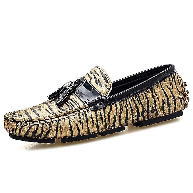 YU Mocasin para hombre Nappa Leather Primavera/Otoño Comfort Boat Shoes Talón plano con cordones: Amazon.es: Ropa y accesorios