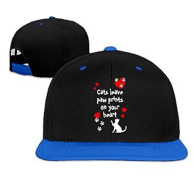 Uomo e Donna Gorras de Béisbol, Cat Leave Paw Print On Your Heart ...