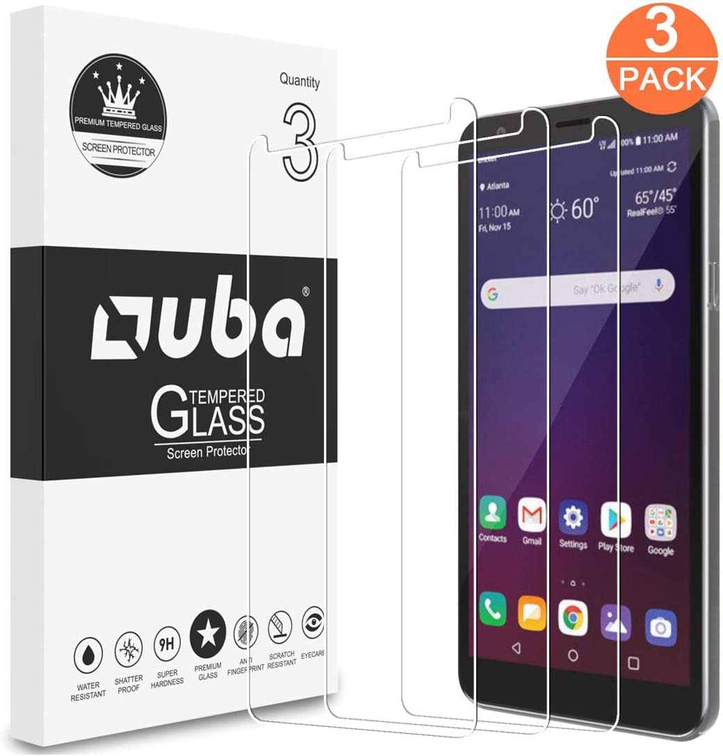 OUBA [3 Pack] Screen Protector for LG Escape Plus, Arena 2, K30 2019, Prime 2, Aristo 4 Plus, Tempered Glass HD Clear [Case Friendly] Easy Installation Anti-Scratch with Lifetime Replacement Warranty
