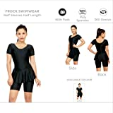 Champ Women's Poly Spandex Freestyle Padded Swimwear Frock Style with Half Sleeves and Legs