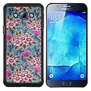 Planetar® ( Vintage fondo de pantalla Arte Pintura ) Samsung Galaxy A8 A8000 Fundas Cover Cubre Hard Case Cover