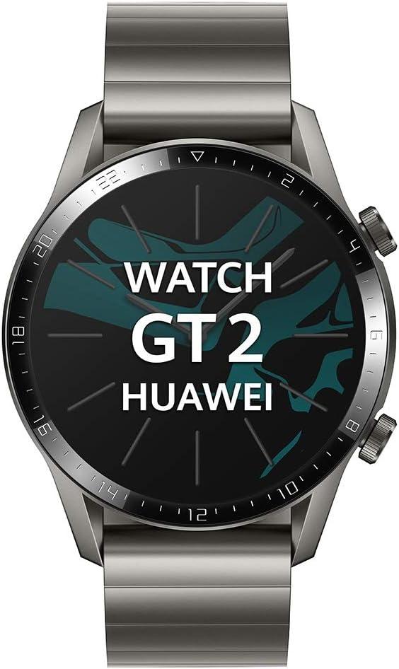 Huawei Watch GT 2 Elegant - Smartwatch con Caja de 46 mm (Hasta 2 Semanas de Batería, Pantalla Táctil AMOLED de 1.39