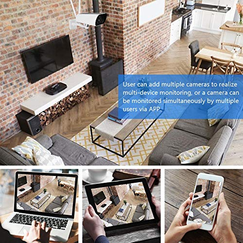 Naroote Solar Camera, 200W 1080P HD WiFi Outdoor Solar Security IP Camera Wireless Energe-Saving Sight of Night Camera -Products Quality Assurance