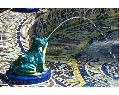 10X8 Print Of Ceramic Frog Spitting Out Water  Frogs Fountain  Maria Luisa Park  Seville  8401027