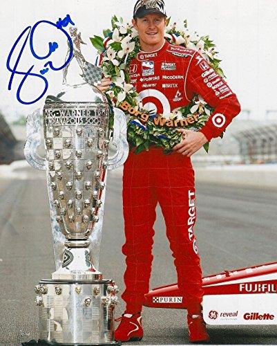 Signed Scott Dixon Photo - 8x10 INDY 500 TROPHY IRL INDY COA - Autographed NASCAR Photos ()