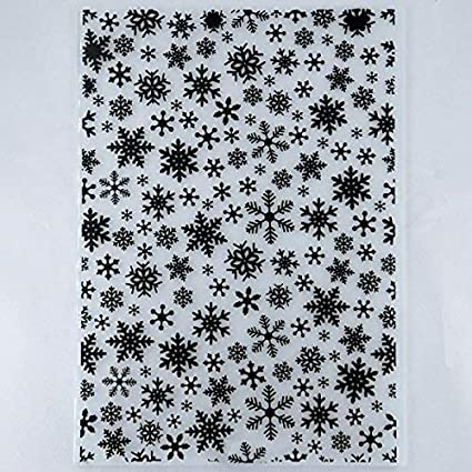 Kwan Crafts Christmas Snowflake Plastic Embossing Folders for Card Making Scrapbooking and Other Paper Crafts 12.1x15.2cm