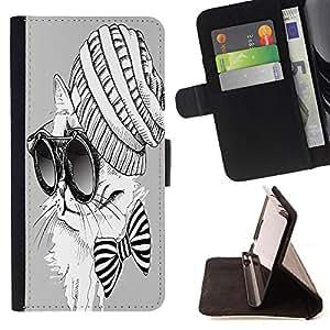 King Case - FOR LG G2 D800 - conquer all things - Prima caja de la PU billetera de cuero con ranuras para tarjetas, efectivo Compartimiento desmontable y correa para la mu?eca