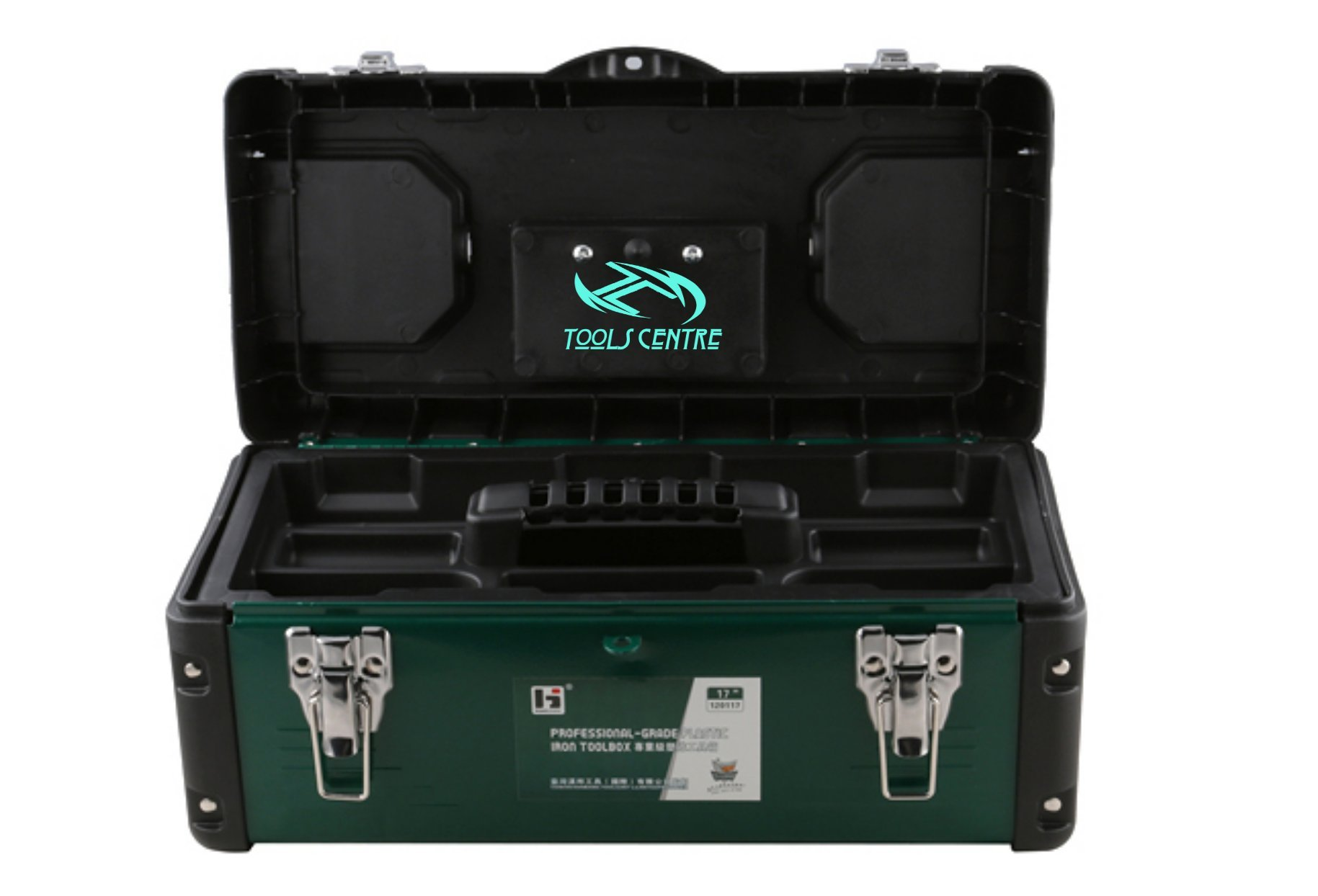 Tools Centre New Arrival Exclusive Quality Metal ABS Tool Box With Safety Latch. (17'')