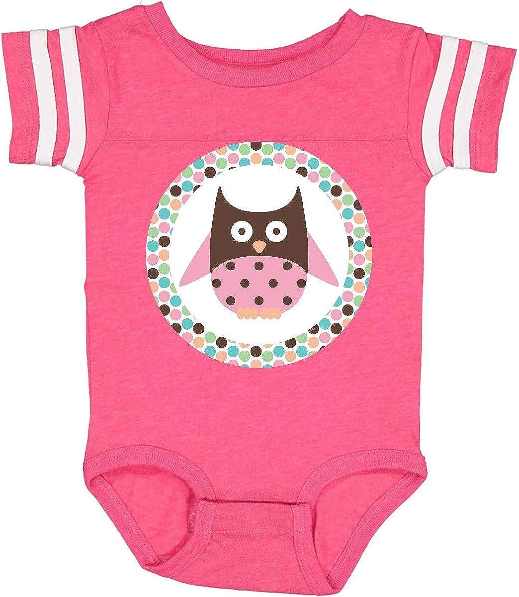 inktastic Owl Pink Polka Dot Infant Creeper