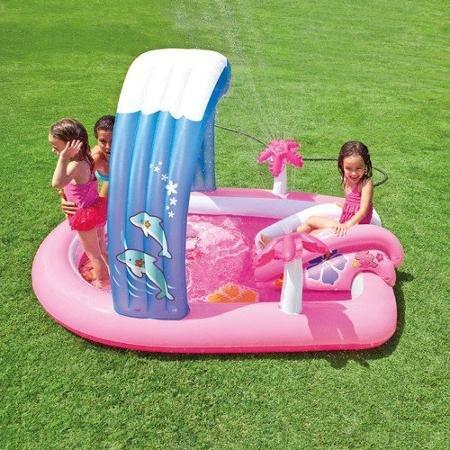 (Intex Hello Kitty Play Center Inflatable Kiddie Spray Wading Pool Slide)