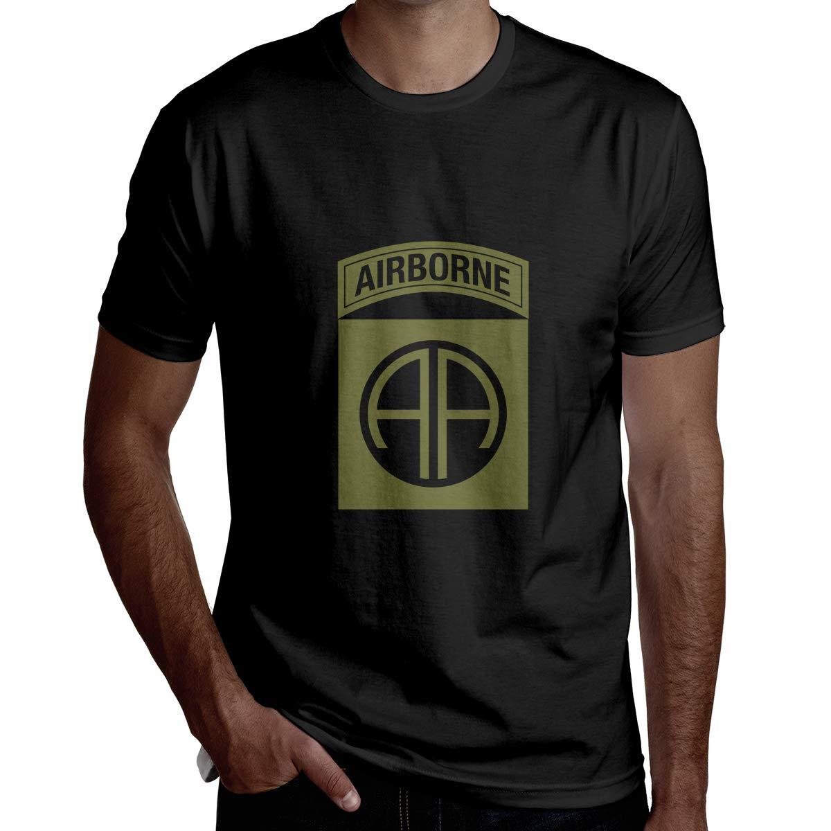 Wbydgoigo Shirt 82nd Airborne Division Mens Fashion Short Sleeve Shirts