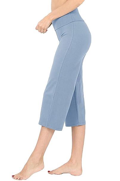 Amazon.com: Re.Born - Pantalones capri de algodón y licra ...
