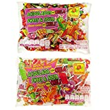 Mexican Candy Bundle: Sweet and Sour Chewy Candy with Chili 100 pcs + Sweet and Sour Chewy Pop With Chili 50 pcs