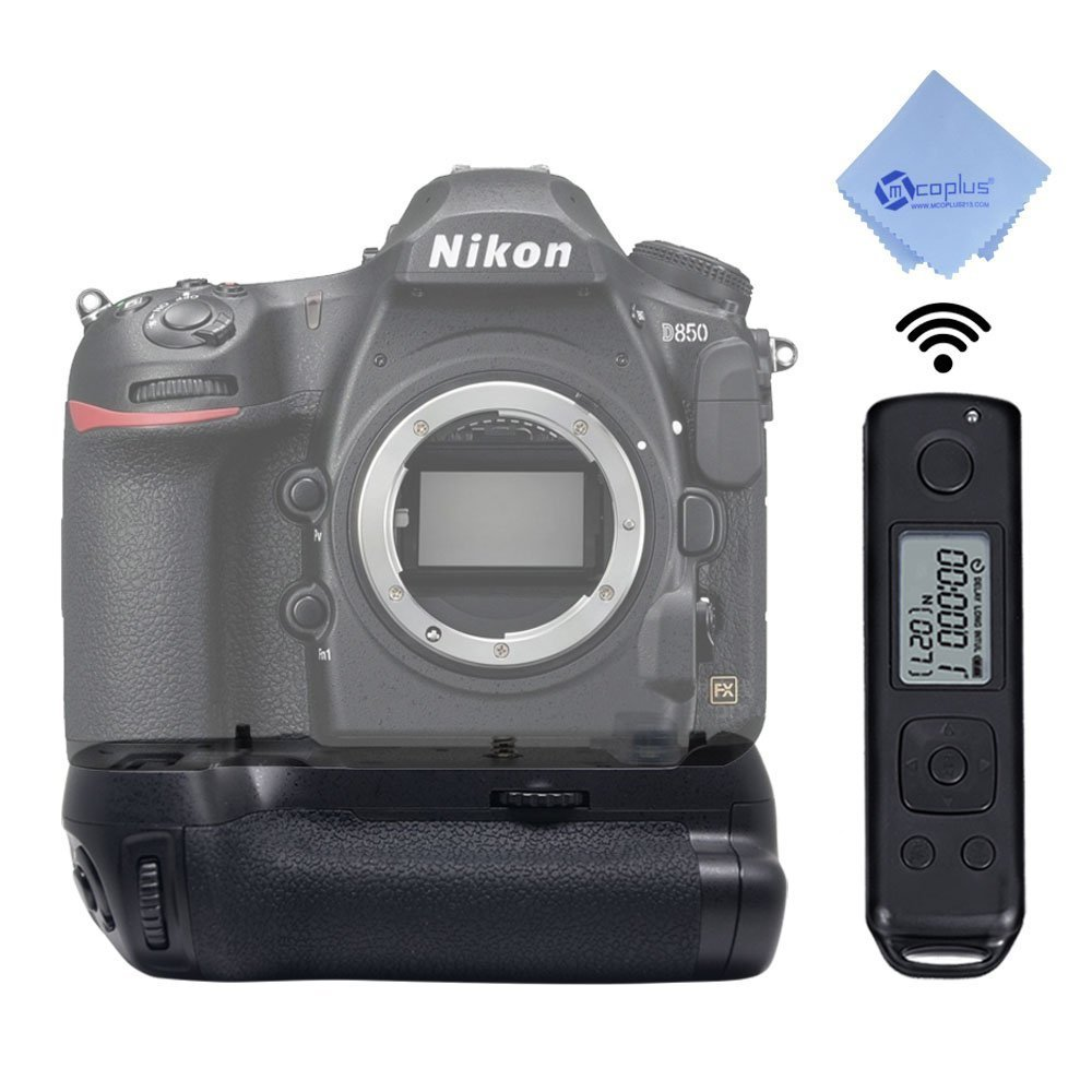 Mcoplus Meike MK-D850 Pro Vertical Battery Grip with 2.4G Hz Wireless Remote Control for Nikon D850 Camera with mcoplus cloth