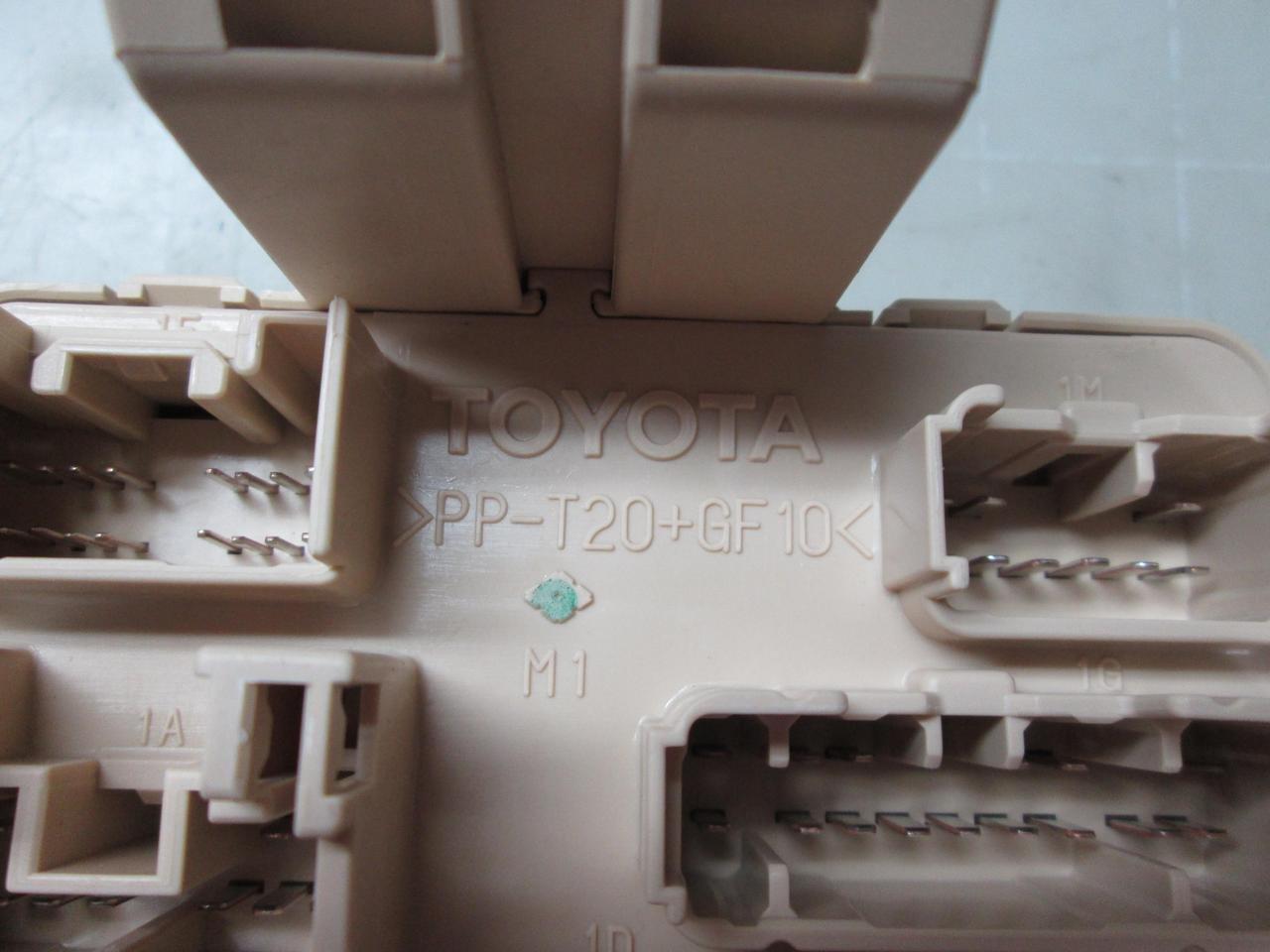 Toyota PP-T20+GF10 Fuse Box T53497