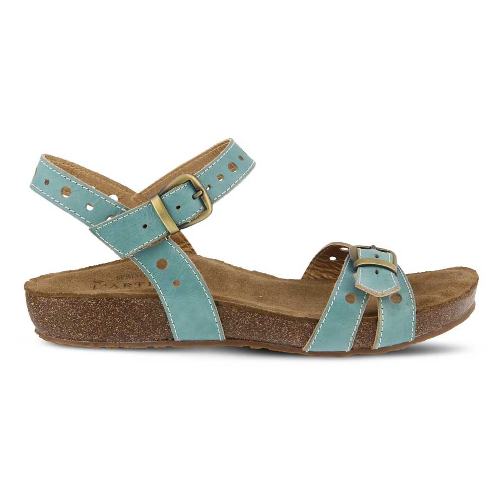 L'Artiste by Spring Step Women's Style 38 Technic Leather Sandal B079NQ28NS 38 Style M EU|Sky Blue Leather ff7806