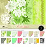 Sew Easy Industries 24-Sheet Paper and Die Cut Assortment Pack, 12 by 12-Inch, Catalina