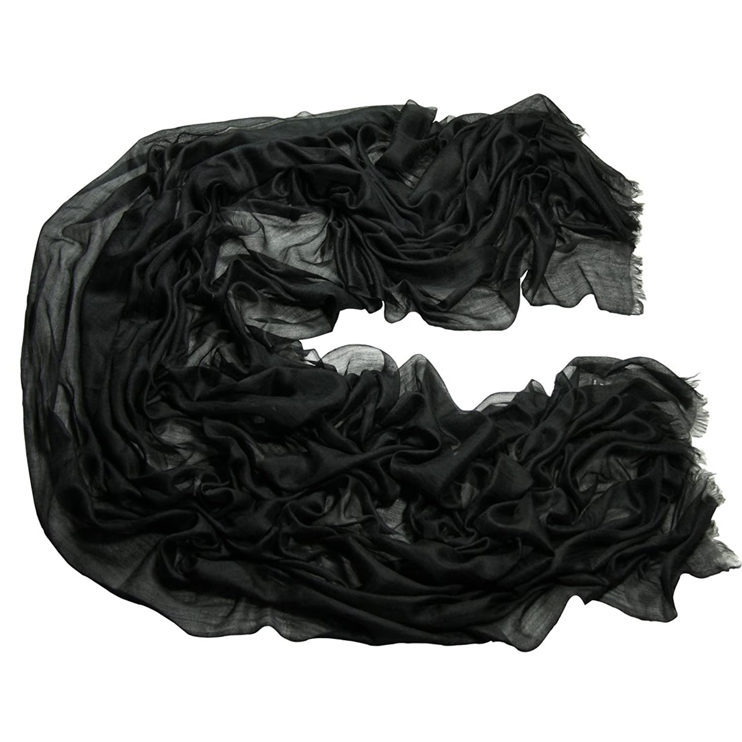 ZORJAR 100% Cashmere Ultra Thin Soft Warm Long Extra Large Scarf ...