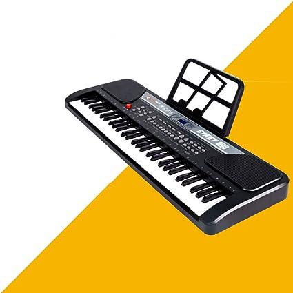 QXMEI Teclado Digital para Niños Teclado para Piano con 61 ...