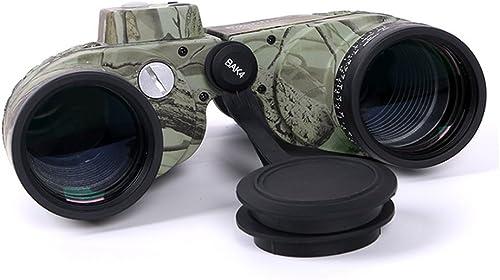 LightInTheBox Multi-Coated 10X50 Waterproof Navy Binoculars Telescope with Rangefinder and Compass Ranger Finder 132 1000 Independent Focus