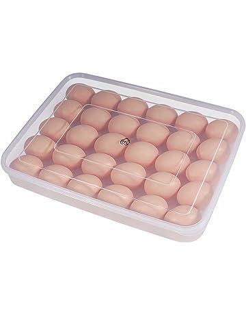 77L Huevera, contenedor de 30 huevos para el frigorífico, con tapa, portátil,