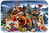 Caroline's Treasures PTW2024LCB Animals Opening Christmas Presents Glass Cutting Board, Large, Multicolor