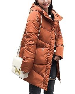 fc12f277f9 Suncaya Damen Wintermantel Lange Jacke Outwear Warm Mantel Lässig Dicker  Slim Mit Kapuze Steppjacke