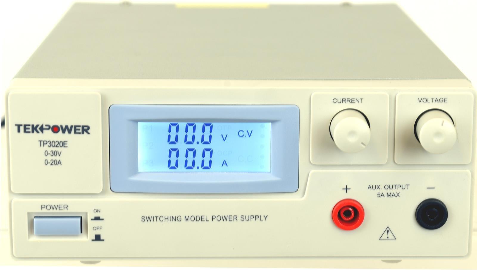 TekPower DC Adjustable Switching Power Supply (30Volt/20Amp)