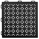 Greatmats StayLock Perforated Floor Tile 26 Pack (Black)