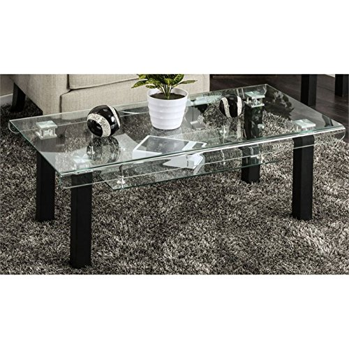 Furniture of America Lexington Contemporary Coffee Table in Black